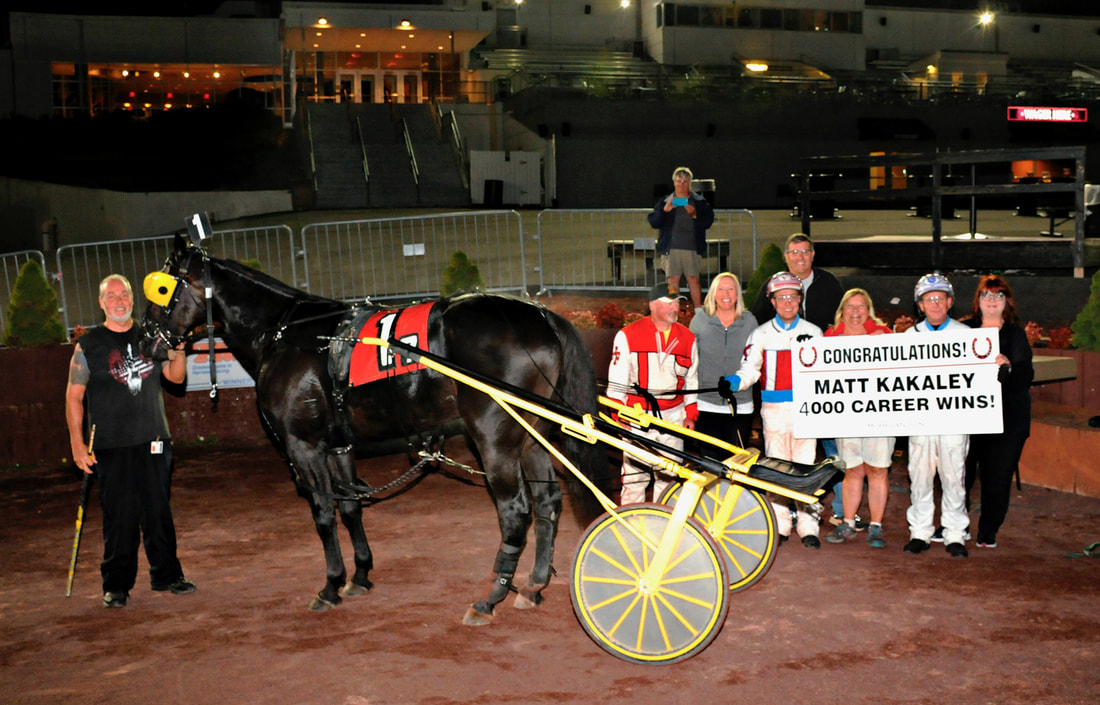 Matt Kakaley harness driver celebrates 4000th win at The Downs at Mohegan Sun Pocono